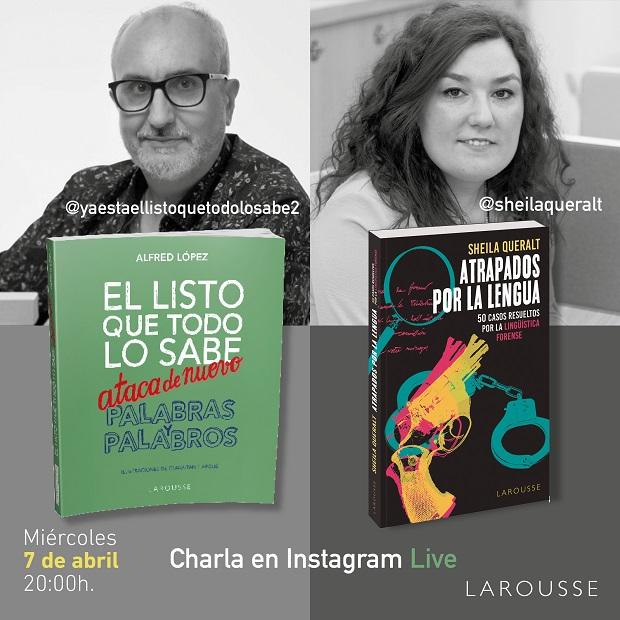 Charla en Instagram 'Alfred López' y 'Sheila Queralt'