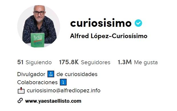 Las curiosidades de 'Ya está el listo que todo lo sabe' también en TikTok @curiosisimo