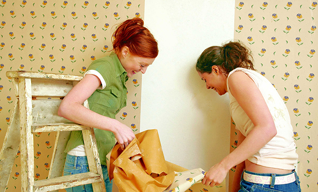 Papel pintado un hogar con mucho oficio - Como quitar el gotele de una habitacion ...