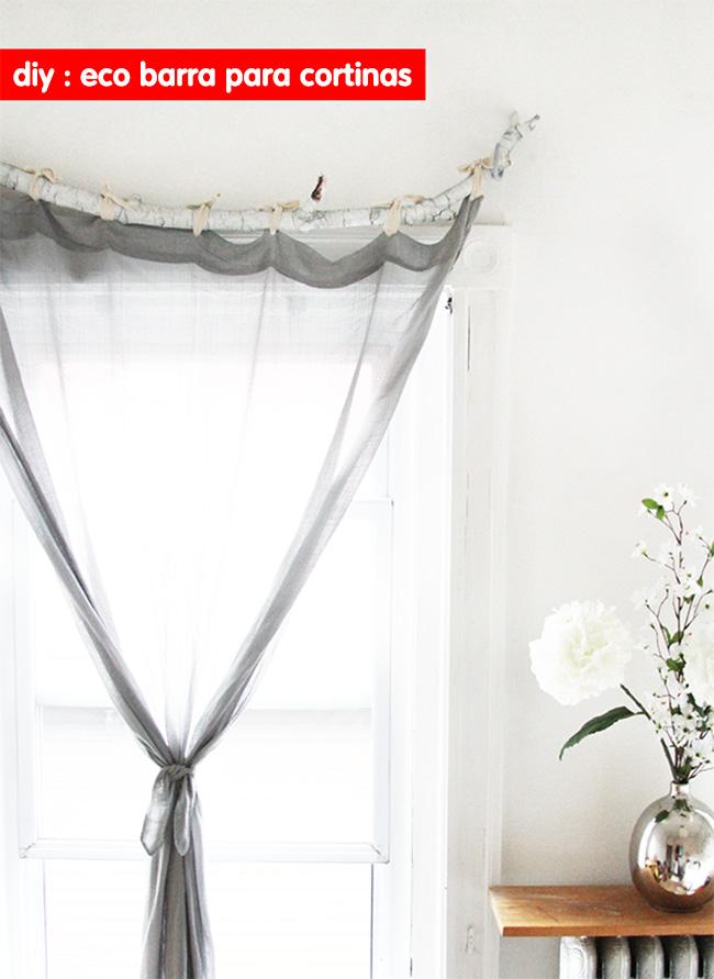Eco inspiración DIY – Crea tu barra de cortina con una rama de árbol