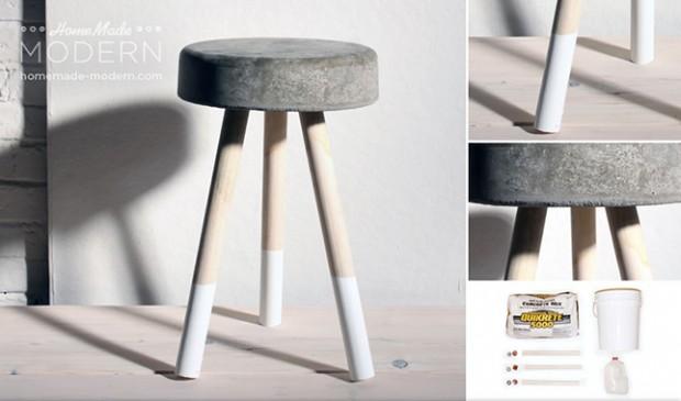 por menos de 6€, el regalo DIY perfecto de estas Navidades: Cómo hacer este taburete industrial de cemento (para todos los niveles de manitas)