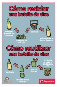 REPARALIA_Reciclaje Vs Reutilización vino_botella_reciclar_reparador_técnico_profesional_hogar