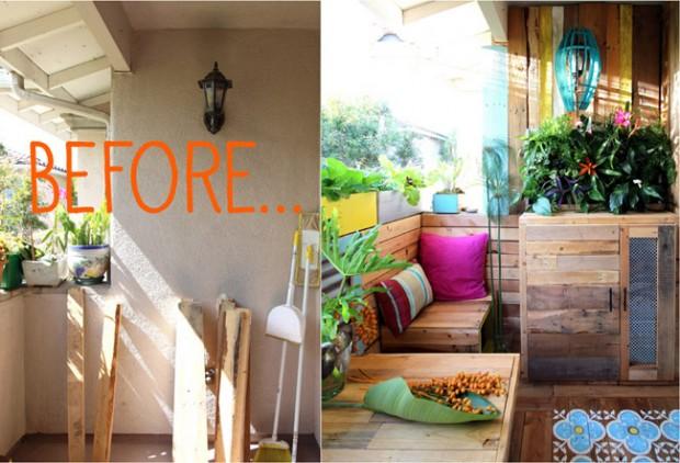 Los técnicos de reparación de averías del hogar de Reparalia te muestran cómo reciclar un palé para cubrir una pared con su madera