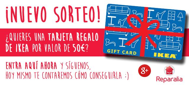 Quieres una Tarjeta Regalo de IKEA por valor de 50€? Entra en nuestro canal de Google+ y Síguenos, hoy mismo te contaremos cómo conseguirla mediante el sorteo que realizaremos