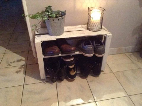 12 ideas para reutilizar cajas de madera un hogar con for Ideas con cajas de madera