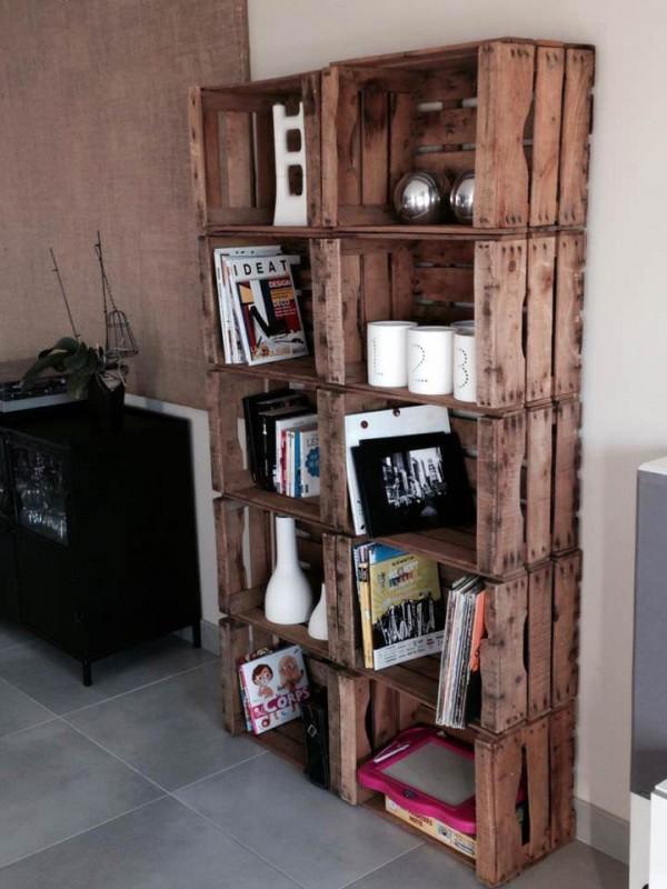12 Ideas para reutilizar cajas de madera para la decoración de tu hogar
