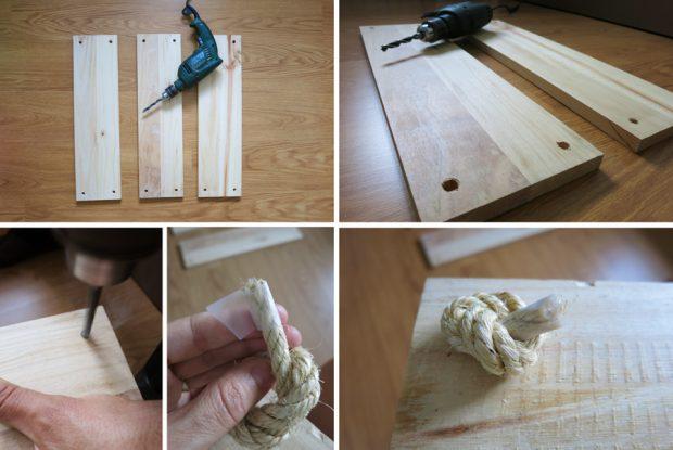 Los carpinteros de Reparalia te traen una idea DIY para crear tu propia balda de madera y cuerda, con fáciles instrucciones y materiales muy económicos