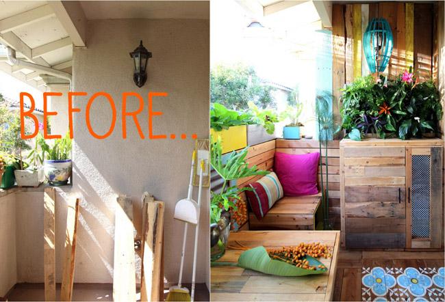 Jard n un hogar con mucho oficio for Reformar terraza ideas