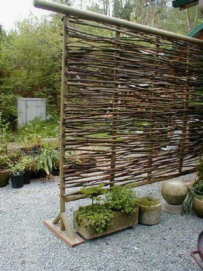 Ideas con madera para jardines for Biombos para jardin