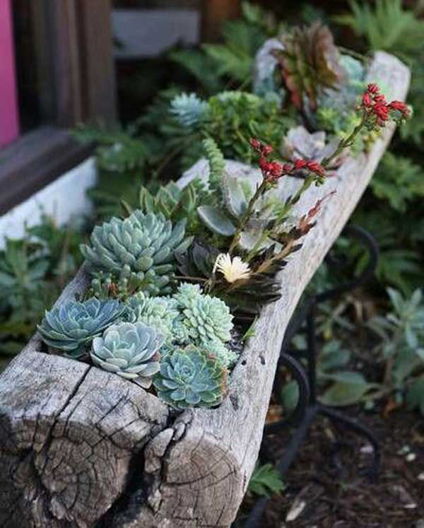 10 ideas diy geniales para reciclar madera y decorar tu for Decorar jardines con piedras y madera