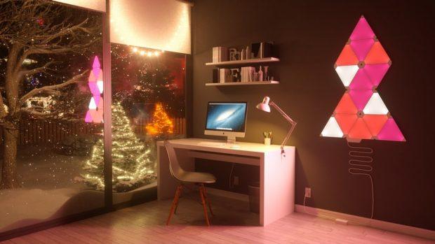 reparalia_decoracion_tendencias_interiorismo_led_luces_luz_electricistas_instalacion_ideas_regalos_deco_aurora_nanoleaf_arbol_navidad