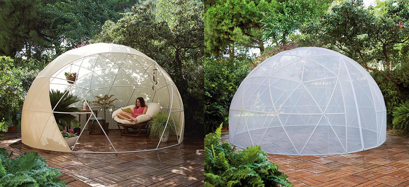 Exterior un hogar con mucho oficio for Como hacer una sombrilla para jardin