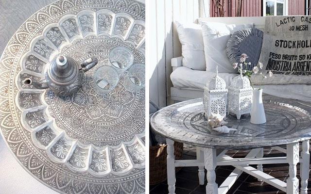 Mesa arabe segunda mano cheap good decoracion arabe segunda mano madrid plato de bronce o latan - Muebles marroquies en madrid ...