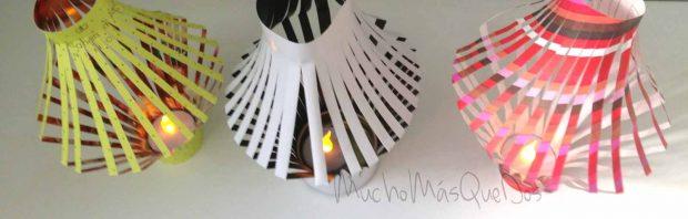 En este DIY te enseño cómo convertir esta bolsa de cartulina, o papel grueso en un farolillo con luz LED incorporada sin gastar más de un euro.