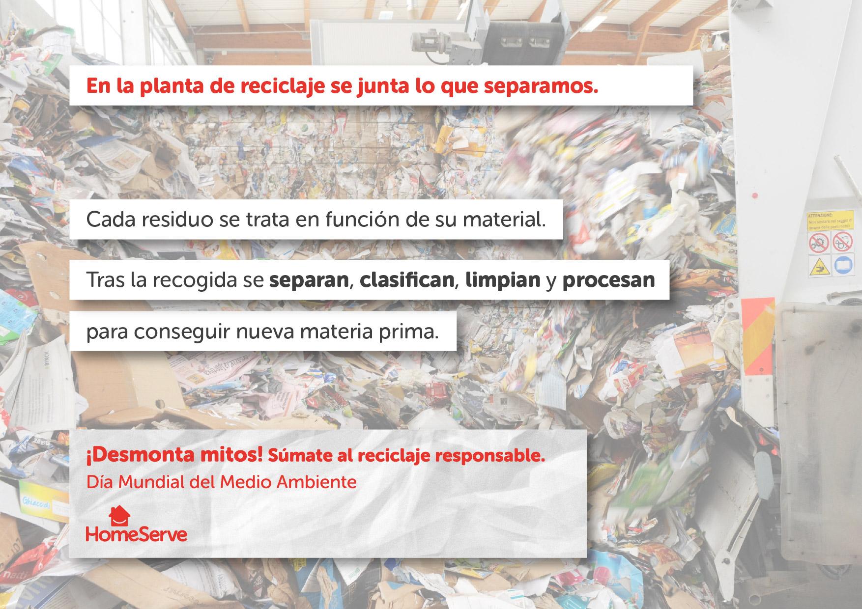 Aprende las mentiras y las verdades sobre el reciclaje para reciclar colaborar mejor a la conservación de nuestro medio ambiente y nuestra calidad de vida, descubriendo los grandes bulos y mitos falsos del proceso de reciclar, con los profesionales de la reparación y el mantenimiento del hogar de HomeServe España.