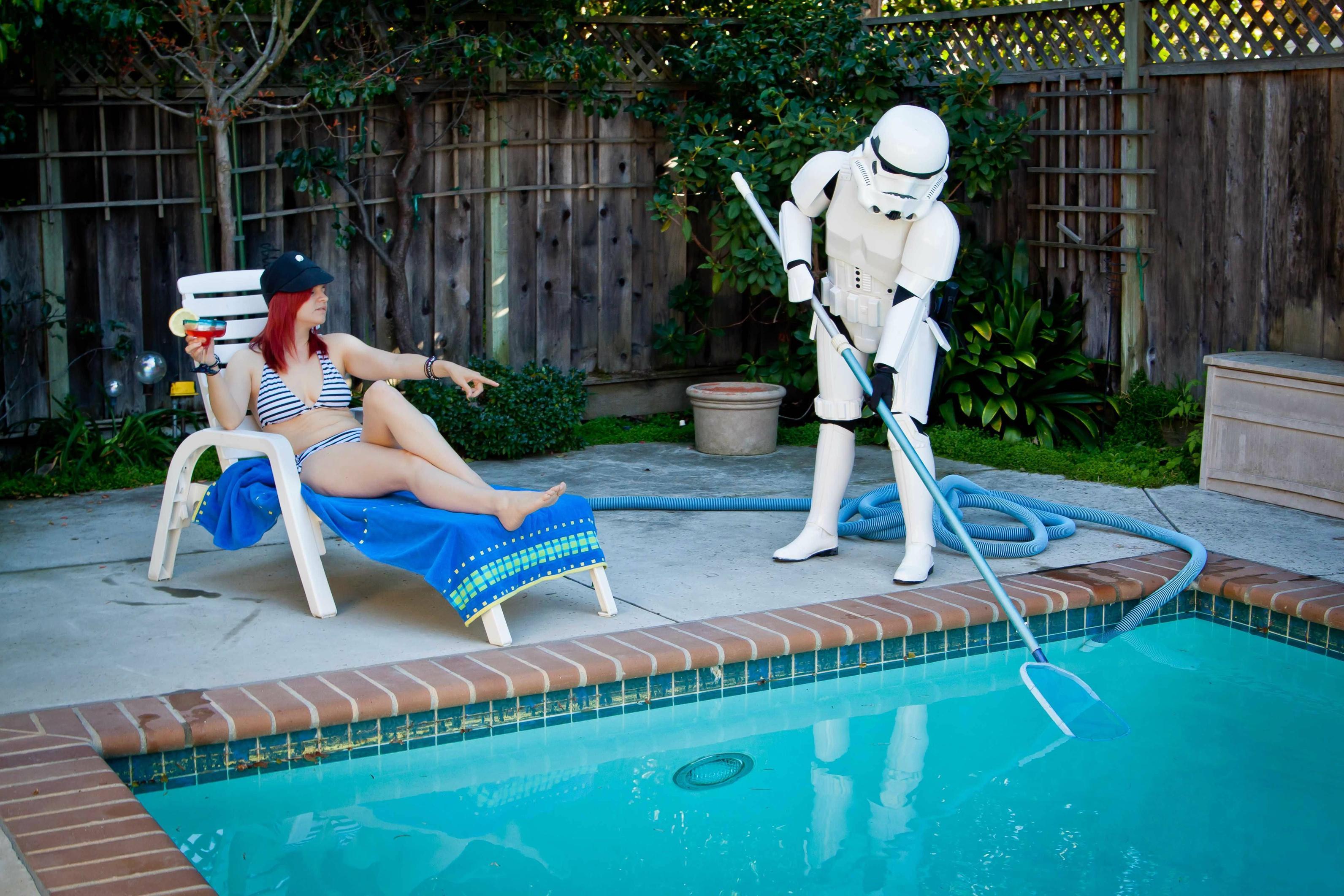 Piscina un hogar con mucho oficio for Homemade wading pool