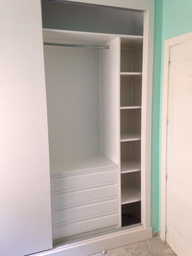 Madera un hogar con mucho oficio - Como forrar un armario con tela ...