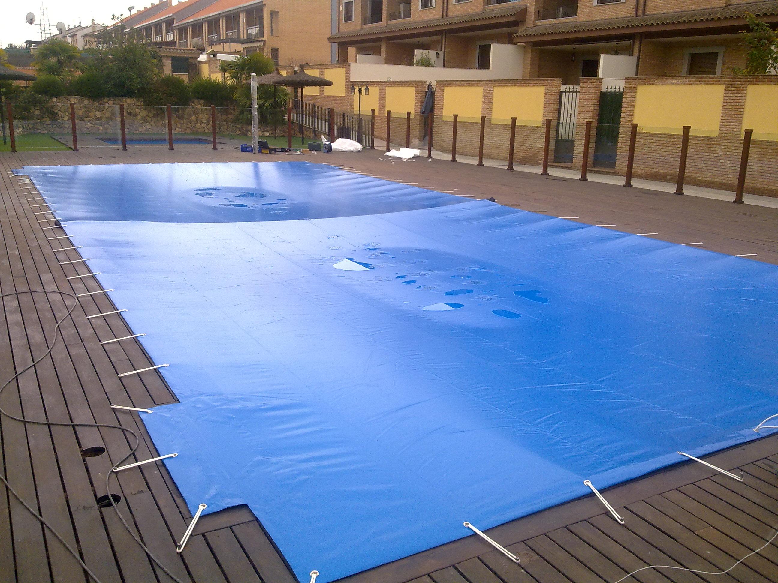 Tapar piscina amazing despus cubrieron el resto del for Piscinas norte