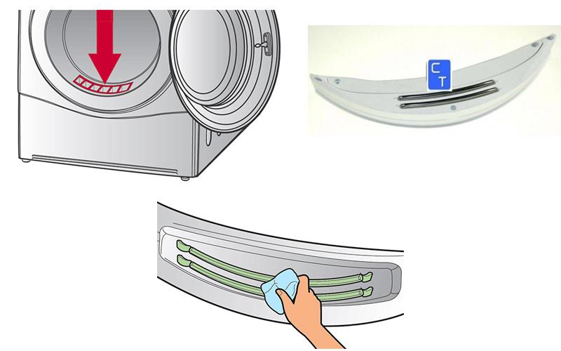 b9cb017ea8692 Este es el emplazamiento habitual de los sensores de humedad en la mayoría  de las secadoras domésticas.