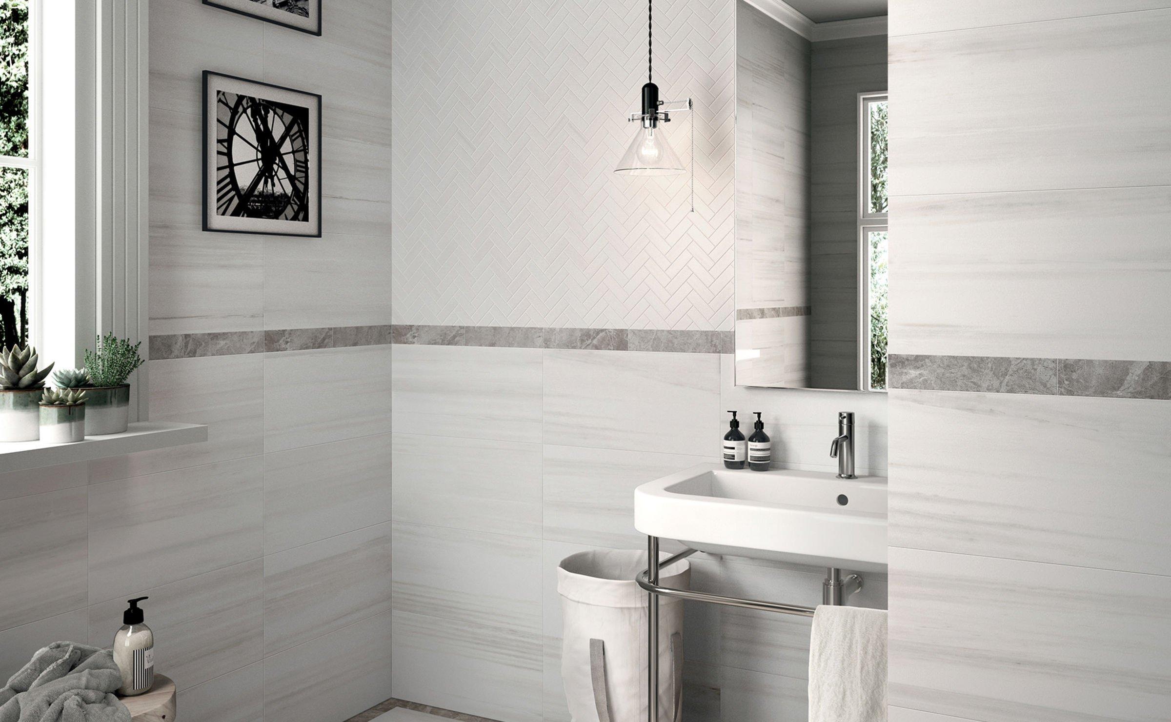 Ba o un hogar con mucho oficio for Azulejos de marmol