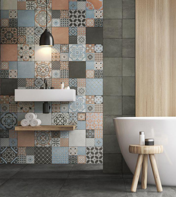 Ba o un hogar con mucho oficio for Concreto de cera en los azulejos del bano