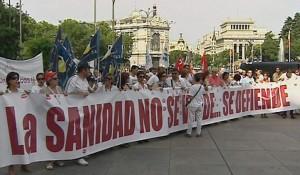Manifestación por la Sanidad en Madrid (EFE).