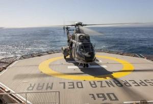 Helicóptero Súper Puma del SAR, similar al siniestrado.