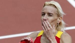 La atleta palentina, Marta Domínguez, durante su participación en Londres 2012 (EFE).