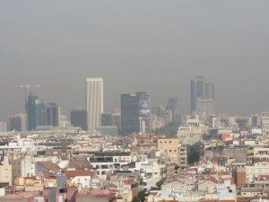 La contaminación en Madrid (Europa Press).
