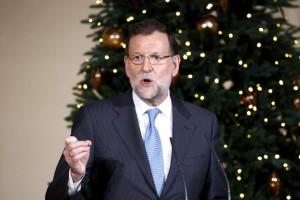 El presidente del Gobierno, Mariano Rajoy, en el Palacio de la Moncloa (EFE).