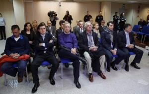 Los 18 acusados del 'Caso Nóos', entre ellos la infanta Cristina e Iñaki Urdangarín (EFE).