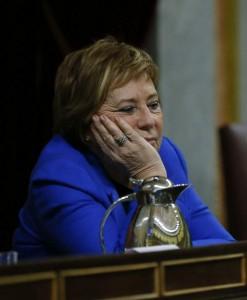 Celia Villalobos en la sesión de tarde del vigésimo quinto debate del estado de la nación (EFE).