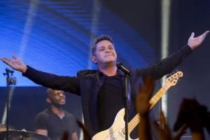 El cantante, Alejandro Sanz, en un concierto a principios de enero en Madrid (Gtres).