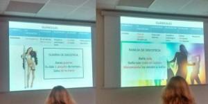 Imagen de la polémica presentación (Twitter: @Niuria123)