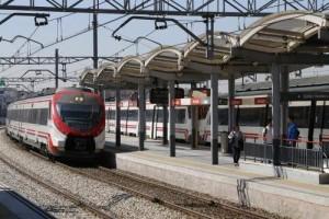 Cercanías en la estación de Santa Eugenia, Madrid (Gtres).
