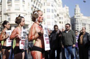 Manifestación contra la tauromaquia (EFE).