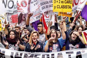 Manifestación de estudiantes en Madrid (Jorge París).