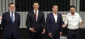 Rajoy, Sánchez, Rivera e Iglesias (EFE).