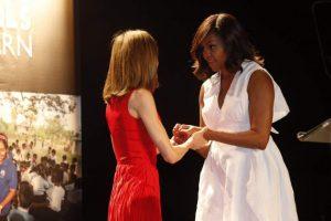 Michelle Obama y la Reina Letizia (Twitter de la Casa Real).