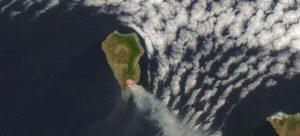 Visión desde el espacio del incendio de la isla de la Palma.