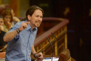 Pablo Iglesias en el debate de investidura de Rajoy (GRES).