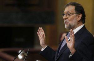 Mariano Rajoy en la primera sesión de investidura (EFE).