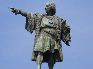 Estatua de Colón en Barcelona (Laslovarga en WIKIPEDIA).