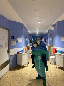 En el hospital.