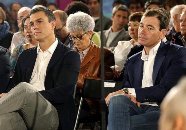 Pedro Sánchez y Tomás Gómez