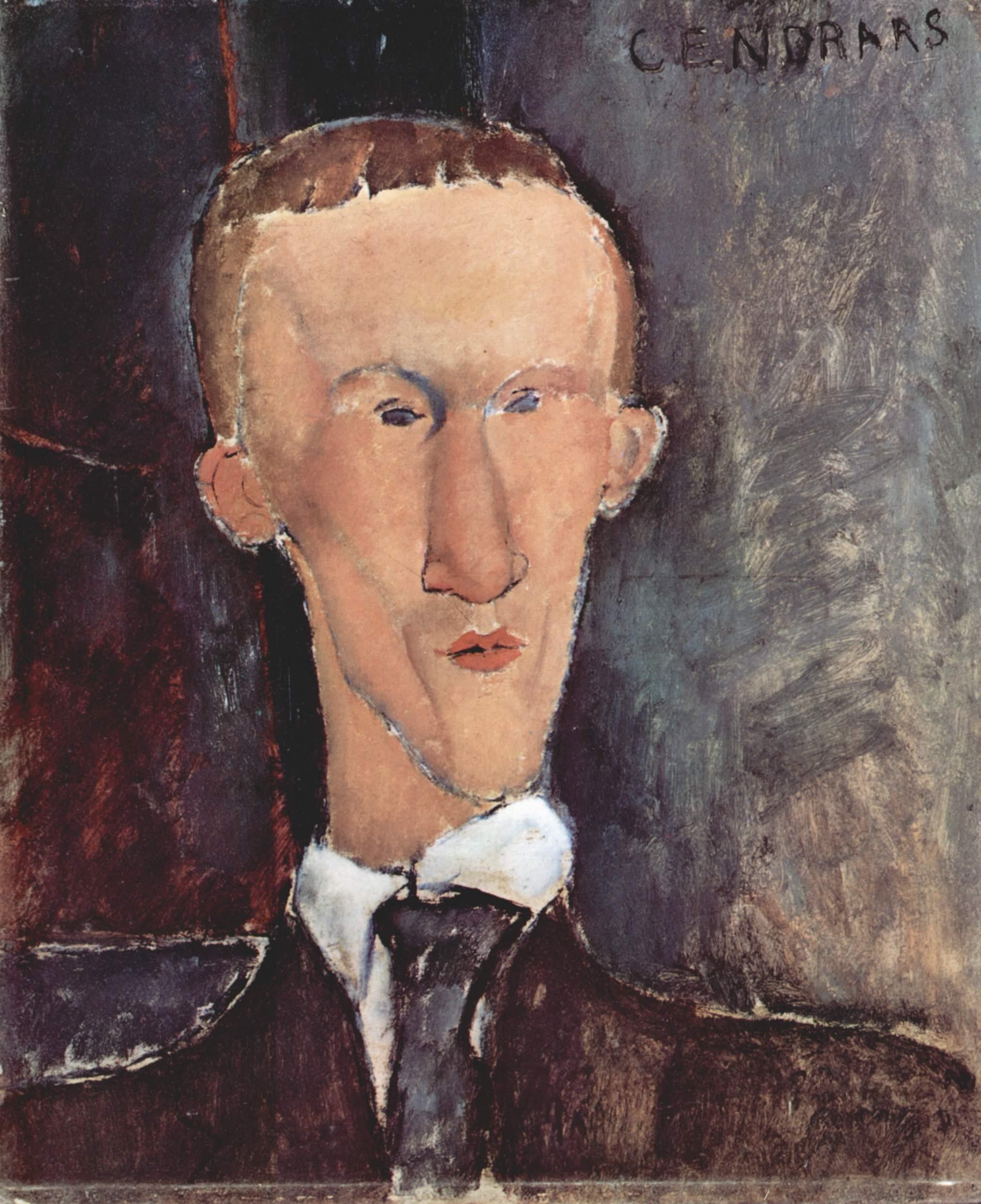 Blaise Cendrars, pintado por Amadeo Modigliani