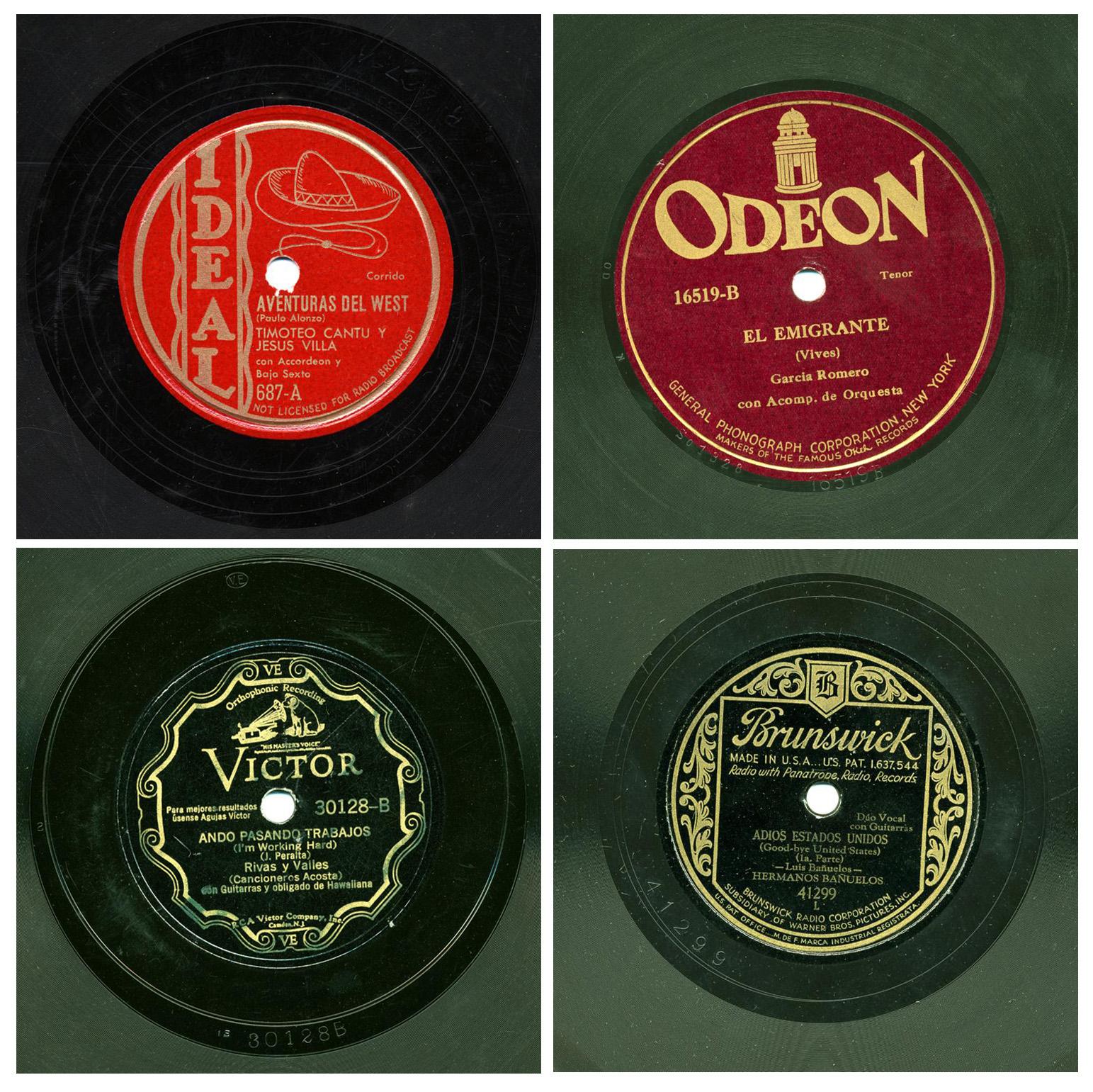 Cuatro de los discos de The Frontera Collection