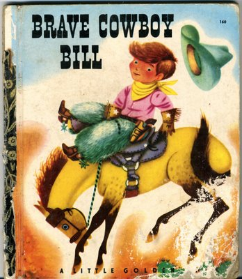 'Brave Cowboy Bill', uno de los títulos de Little Golden Books