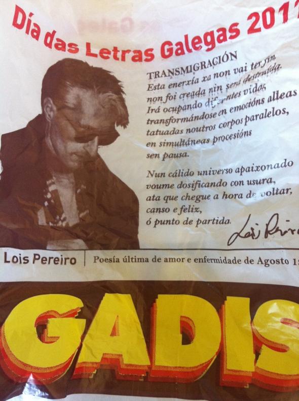 Luis Pereiro en una bolsa de supermercado