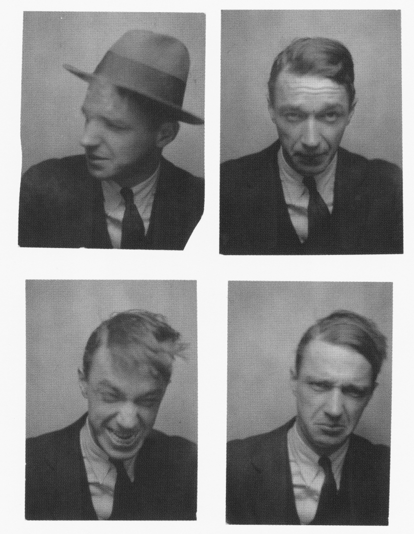 Walker Evans en un fotomatón, 1929